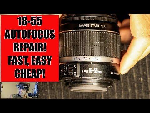 Canon Lens DIY Repair: 18-55MM F3.5-5.6 AutoFocus Not.....
