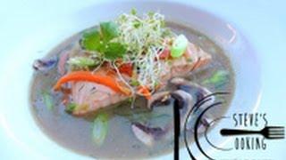 Poached Salmon In Miso Broth Recipe
