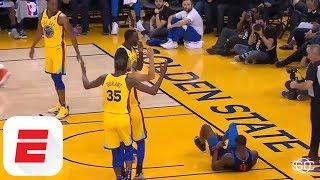 Golden State Warriors down OKC Thunder in heated game | ESPN