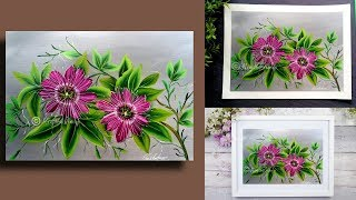 SIMPLE Acrylic Painting Techniques - Painting Lessons - Learn to Paint passion flower