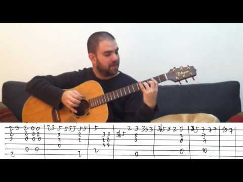 fingerstyle-tutorial:-how-deep-is-your-love---guitar-lesson-w/-tab