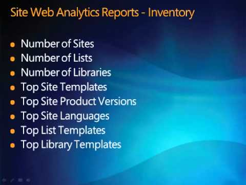 Web Analytics Reports for Search in SharePoint Server 2010