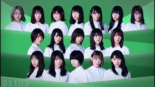 【欅坂46】8th シングル 黒い羊 フォーメーション発表