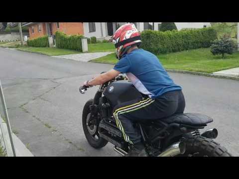 BMW K100 BRAT FLY BY SOUND
