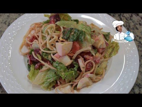 Togolese Spaghetti Salad || Salade de spaghettis togolais