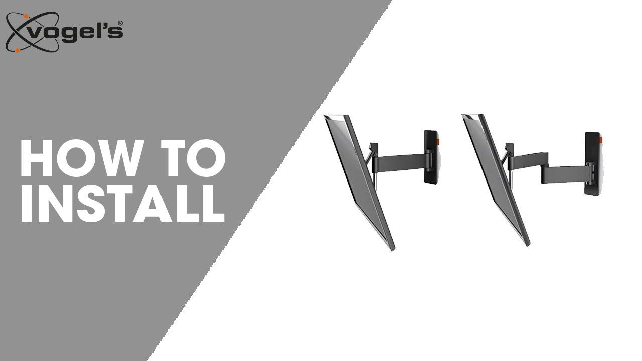 How To install WALL TURN VESA 600x400   TV wall bracket   Vogel\'s ...