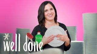 Reluctant Mom Tackles Dish Duty After Christmas Dinner | Mom Vs | Well Done