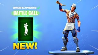 GRILL SERGEANT SKIN IS BACK! *NEW* BATTLE CALL EMOTE IN THE NEW ITEM SHOP! (Fortnite New Item Shop)