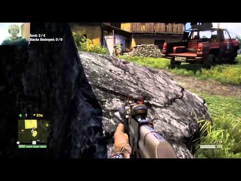 Far Cry 4 Burning of drug camp. Wizzman Style!