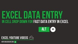 Excel Data Entry Tricks: How to Use the Excel In Cell Drop Down for Fast Data Entry