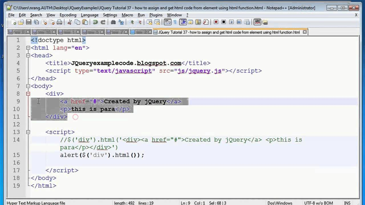 Get pic. HTML code