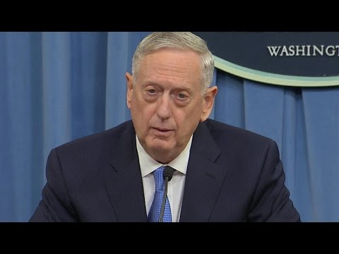 Defense secretary holds first press conference since Syria strike