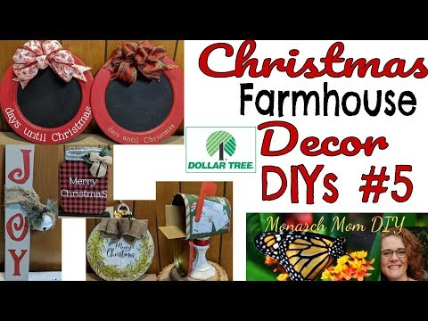 CHRISTMAS FARMHOUSE DOLLAR TREE DECOR DIYs #5 #burlapfabric.com #masonjar