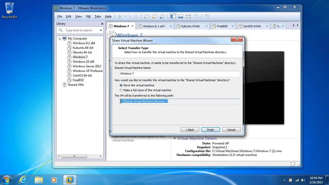 VMware Workstation 11 Fundamentals: Configuring Shared VM Settings