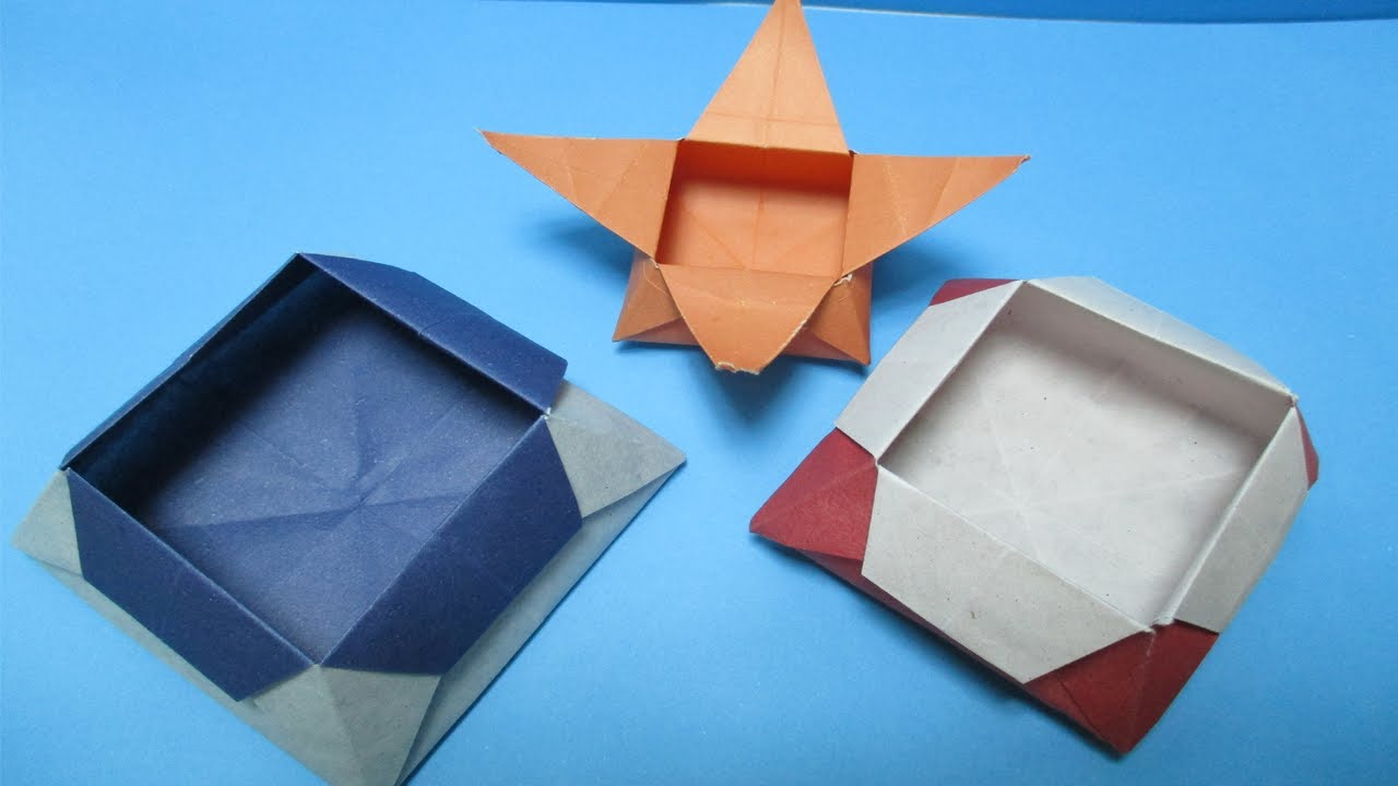 How To Make Easy Origami Box Paper Box Making