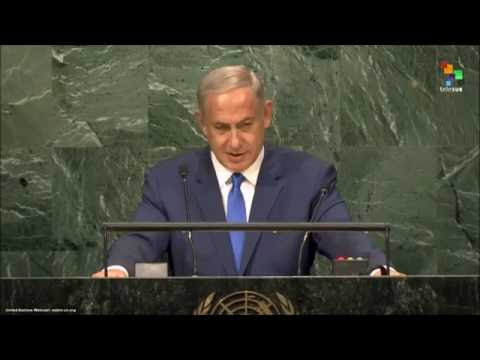 "PM Netanyahu at the UN: ""Mahmoud Abbas should sue Abraham for buying Hebron"""