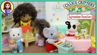 Calico Critters Sylvanian Families Toy Shop Play with new baby critters