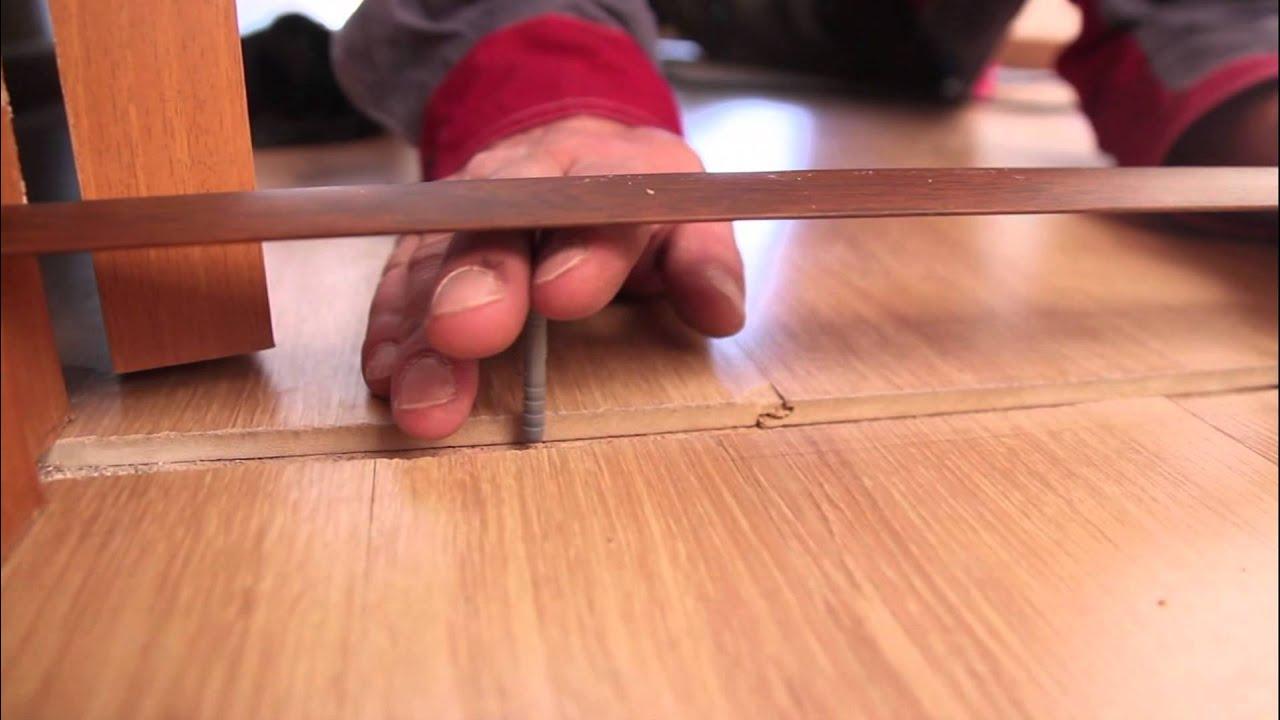 Как заделать стык ламината и плитки (ламината, линолеума) с .