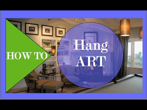 How To Hang ART #3   Interior Design   YouTube