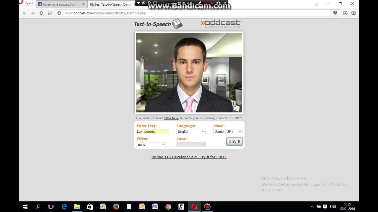 VoiceForge   We make the internet talk®