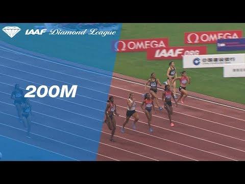 Shaunae Miller-Uibo Wins Women's 200m - IAAF Diamond League Shanghai 2018