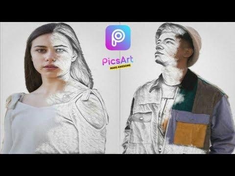 Edit Portrait Sketch Effect | PicsArt Tutorial thumbnail