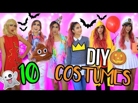 10 DIY LAST MINUTE HALLOWEEN COSTUMES!