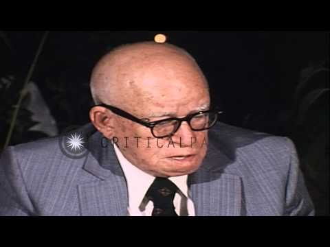 General Omar N. Bradley talks about Berlin during World War II at a press confere...HD Stock Footage
