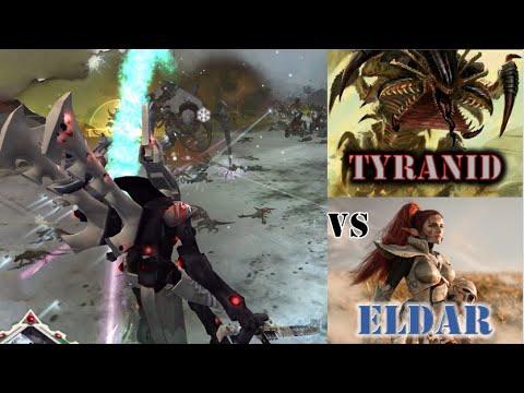 Eldar And Astartes Defend Against Three Tyranid Hives | Dawn Of War | Ultimate Apocalypse Mod
