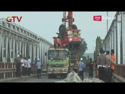 Pasca Jembatan Lamongan Ambruk, Tiga Truk Berhasil Dievakuasi dari Dasar Sungai - BIM 18/04