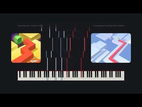 Dancing Line - Dream of Sky // Custom Arrangement (Synthesia Tutorial + MIDI + PDF)
