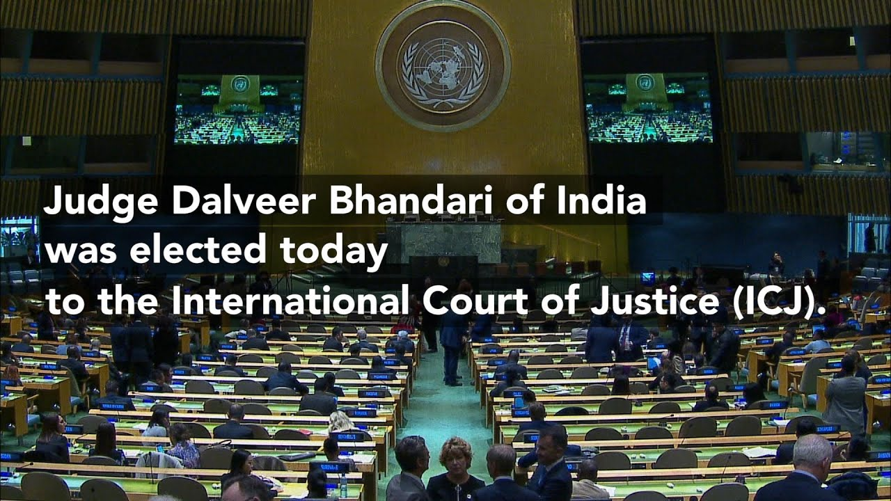 Dalveer Bhandari from India was elected today to the International Court of Justice (ICJ)