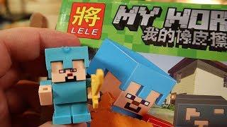 Резиновый Майнкрафт ЭТО НЕ ЛЕГО это китайская подделка Minecraft и это конструктор ЛАСТИКИ