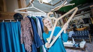 Simone Giertz Makes a Coat Hanger for Coat Hangers