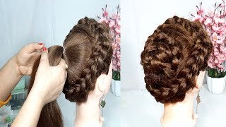 Easy bun hairstyle for girls | wedding hairstyles | Cute hairstyle | hair style girl | hairstyle