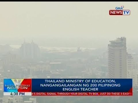 BP: Thailand Ministry of Education, nangangailangan ng 200 Pilipinong english teacher
