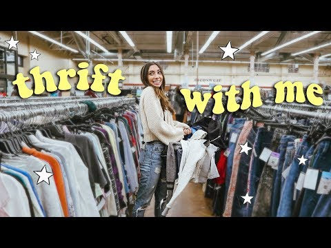 THRIFT WITH ME My First Time! ☆ (Vlog + Try On Haul)