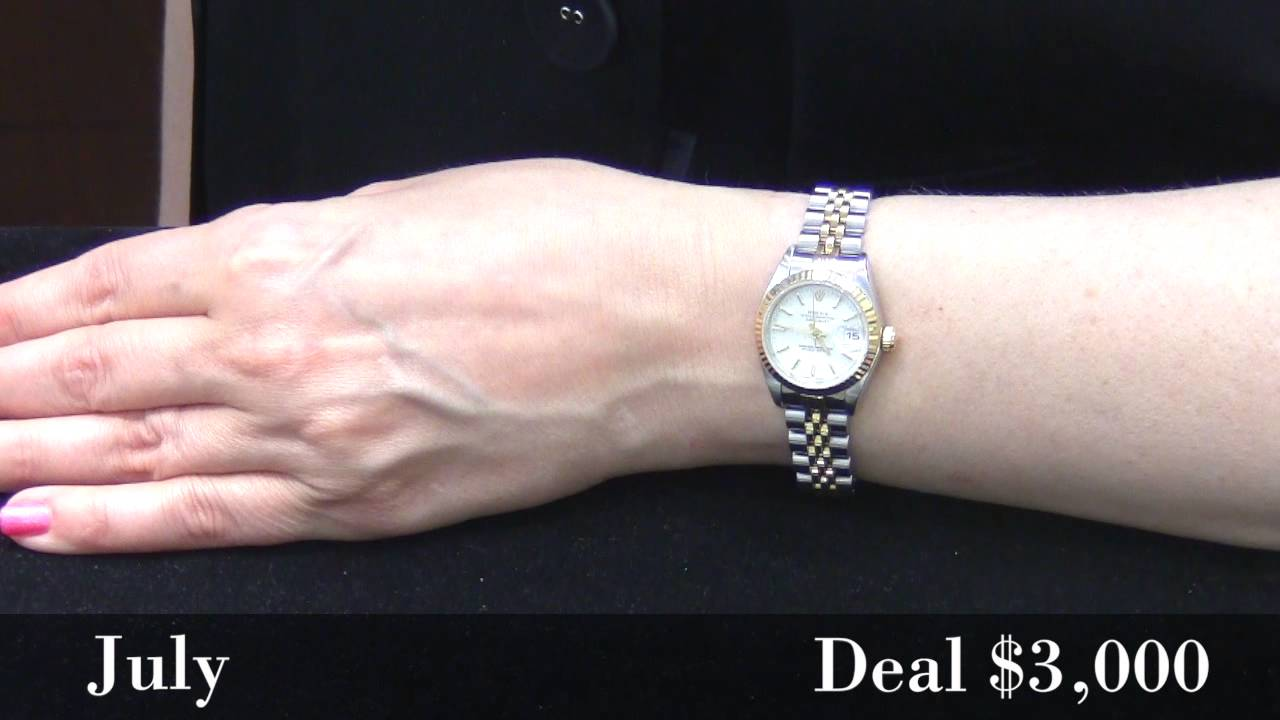 Deal of the month women 39 s two tone rolex watch youtube for Celebrity watches female 2018