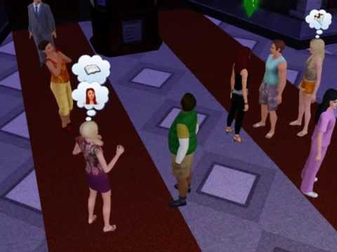 Sims 3 Pop star signs autographs!!!!