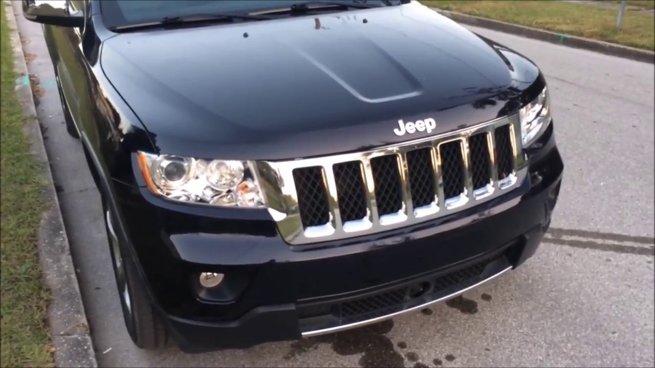 jeep grand cherokee 2011 2013 how to change the daytime running light passenger side  [ 1280 x 720 Pixel ]