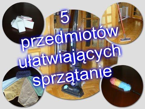 5 przedmiotów ułatwiających sprzątanie