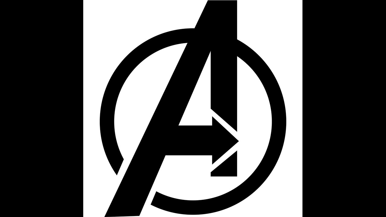 How To Draw Avengers Logo (Speed Drawing) - YouTube