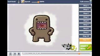 How to Draw Domo-Kun