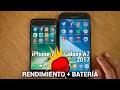 iPhone 7 vs Samsung Galaxy A7 2017 - Rendimiento y batería