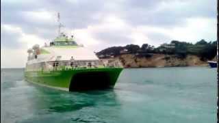 Hellenic Seaways Flyingcat 5 departure from Alonissos