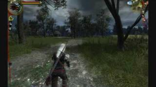 The Witcher Enhanced Edition Max Settings - HD Gameplay 720p (running and fighting)