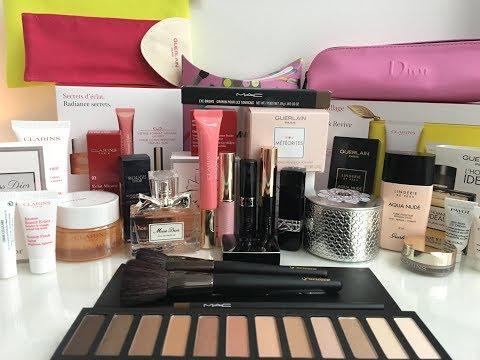 Много люксовых покупок Покупки косметики Lux Guerlain, Dior, Clarins