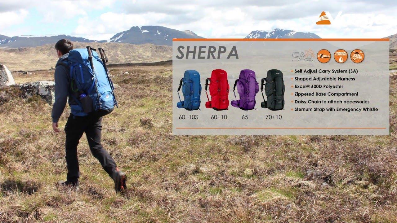 d12729439d Vango Trekking - Sherpa Rucksack filmed 2015 - YouTube