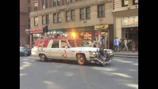 Ghostbusters 2016 - Behind The Scenes - Ecto1 & Ecto2 in NYC
