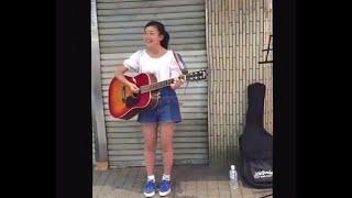 14歳の幾田りら/ikura YOASOBI 路上ライブ ヒカリへ/miwa (cover) 2015年8月2日 14-year-old